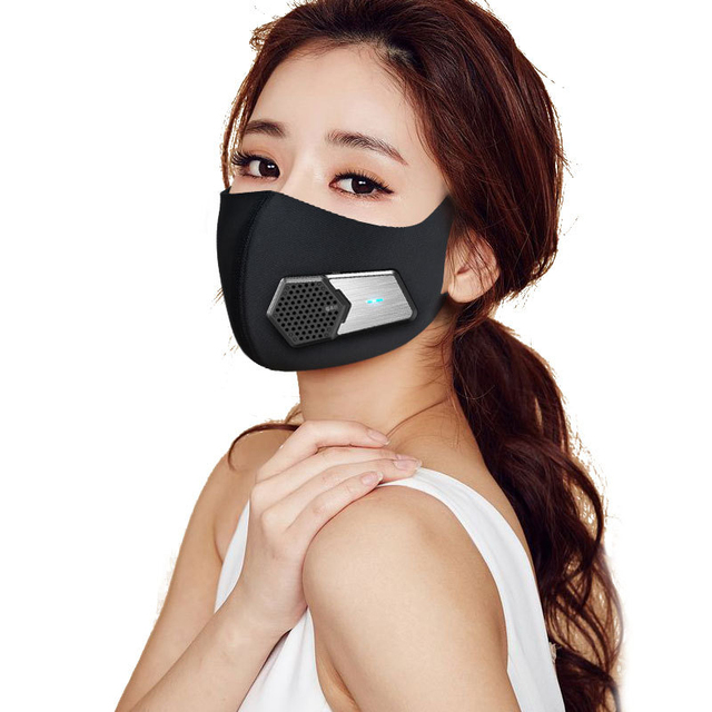 Air Purifying Smart Electric Face Mask 3 Layer Filter Anti Dust Fan Unit Automatic Air Supply Electronic Face Mouth Mask 2