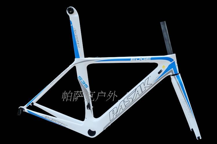 Pasak S35 700C Road Bike Carbon Frame Ultralight Frames Cable Internal Machinery Electric Derailleur Bicycle T800 Carbon Fibre - 6