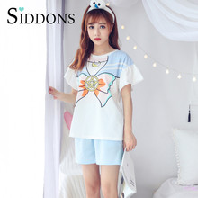 Summer Cute High quality Women Sailor Moon Nightgowns Home Wear Student Girls Sleep