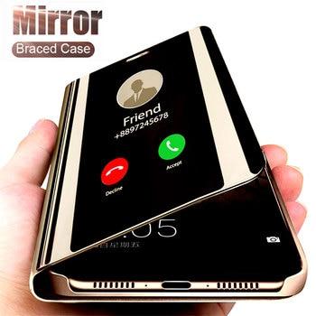 Smart Mirror Phone Case For Samsung Galaxy S10 S8 S9 Plus A50 A40 A30 A20 A70 A20s A30s A50s M20 M30 M30s M40 S6 S7 Edge Cover 1