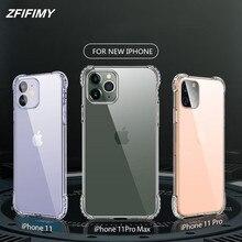 Iphone 11 pro max four-corner anti-drop mobile phone case for iphone 11pro transparent anti-shock TPU