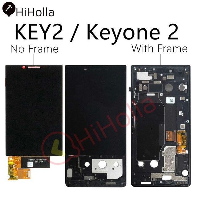 لبلاك بيري مفتاح 2 شاشة الكريستال السائل محول الأرقام بشاشة تعمل بلمس لبلاك بيري Key2 LCD Keyone 2 KeyTwo الشاشة مع استبدال الإطار