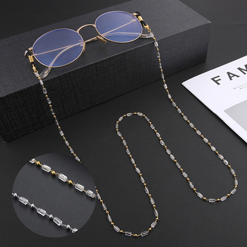 Teamer Sunglasses Chain Fashion Crystal Beaded Lanyard for Women Glasses Chain Neck Holder Straps Cord Mother's Day Gifts