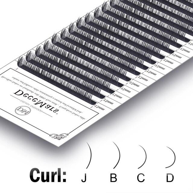 DeceMars Eyelash Extensions Faux Mink Individual Eyelashes Extensions for Salon Use Natural Semi Permanent Eyelash 16lines/Tray 2