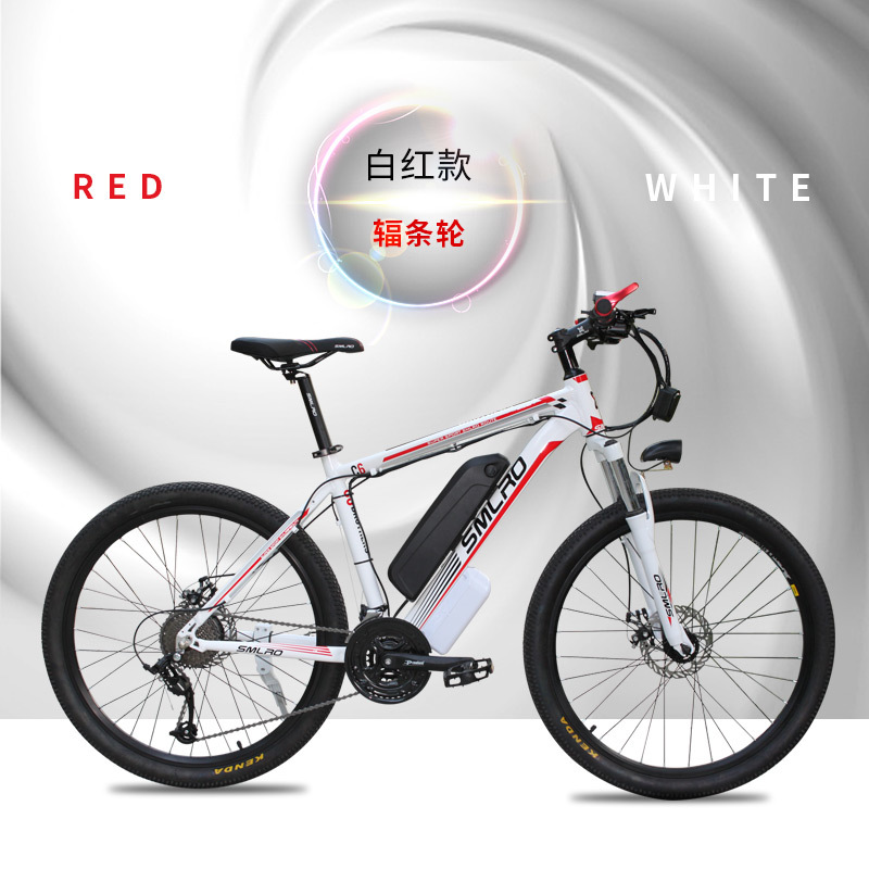 "C6 Best selling 26"" 500W 48V 10AH Lithium Battery E-bike electric bike 6"