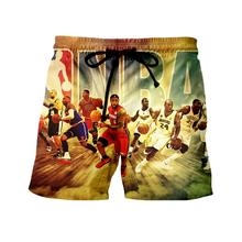 WSFK brand new products shorts beach pants nba basketball star sports 3D print