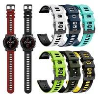 Cinturino per cinturino per Huami Amazfit Stratos 3 cinturino da polso in Silicone Smartwatch accessori sostituibili bracciale (fibbia nera)