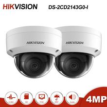 Hikvision 2 Pcs DS-2CD2143G0-I 4MP Dome POE IP Camera Home/Outdoor Security System H.265 IR 30m CCTV Video Surveillacne ONVIF hikvision poe outdoor infrared 8mp camera wdr home protection system ds 2cd2183g0 i cctv video surveillance security ip camera