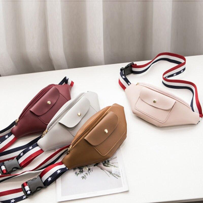 Outdoor New Waist Bag Zipper Canvas Messenger Pack Sport Chest Fila Bag Waist Bag Teenager Girls