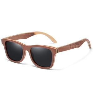 Image 4 - GM Polarisierte Skateboard Holz Sonnenbrille Männer UV400 Designer Sonnenbrille Brillen Gafas De Sol De Los Hombres Polarizados S4832