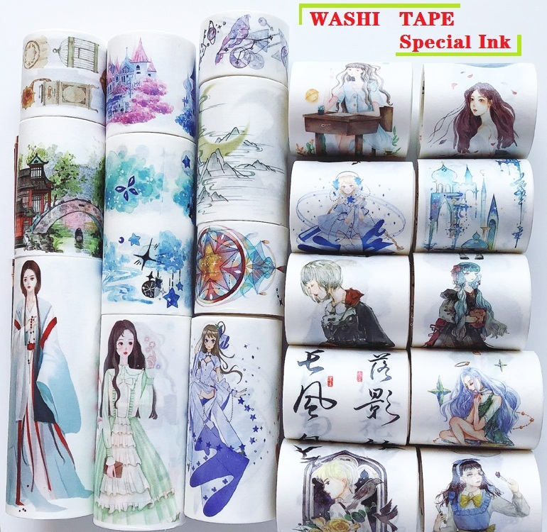 25 Designs Washi Tape Special Ink  Planner Scrapbook Girls Japanese Decor Adhesive DIY Masking Paper Label Stickers Diary Gift