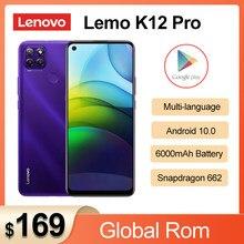 Оригинальный телефон Lenovo Lemo K12 Pro 4G мобильный телефон 6,8 дюймов Snapdragon 662 Octa Core 6000 мАч аккумулятор большой емкости 64,0 задняя камера смартфона