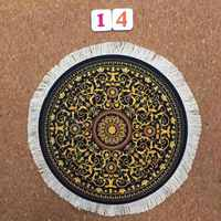Mairuige Persian Carpet Style Bohemian Round Computer 3D Game Gaming Speed Mouse Pad Mat Anti Slip Table Cup Mousepad