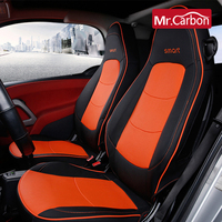 Car Leather full wrap seat cover Anti dirty pad For smart 451 fortwo breathable seat cushion car styling Interior Accessories