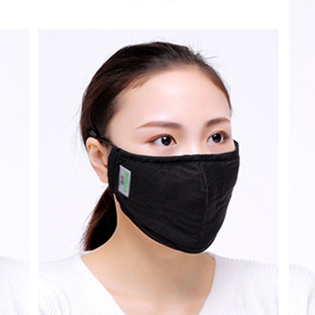 1Pc Cotton PM2.5 Anti Dust Activated Carbon Filter Bacteria Proof  Flu Mouth-muffle Unisex Women Men 4