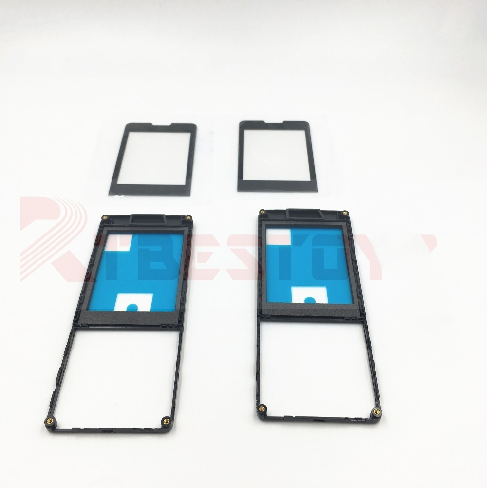 For Philips X1560 Touch digitizer Glass Screen +Front housing black by free shipping image