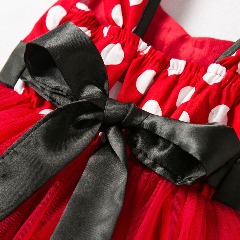 Girls Dress For Baby Kids Cosplay Party Dress Up 1-5 Years Toddler Children Polka Dots Birthday Princess Costume 6