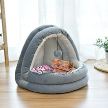 Indoor Kitten House Soft Cat Warm Small for cats Dogs Nest Pet Bed Collapsible Cave Cute Sleeping Mats Winter Products