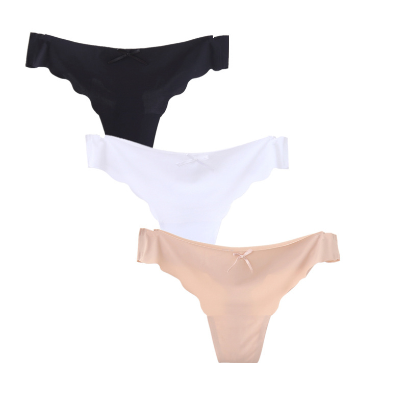 3pcs/lot Seamless Ladies Thong Low Waist Women Sexy G String Solid Underwear   Panties   Wholesale Lots Bulk 20