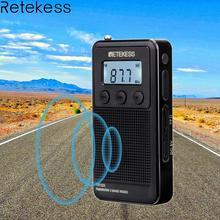 Retekess TR103 Pocket Portable Mini Radio FM / MW / SW Digital Tuning Radio 9/10Khz MP3 Music Player with Rechargeable Battery цена и фото