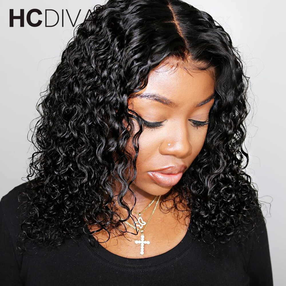 Short Bob Curly Human Hair Wigs With Baby Hair 13 6 Brazilian Remy Lace Front Wig