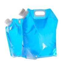 Ev ve Bahçe'ten Sürahiler'de 5L/10L açık su çantası taşınabilir büyük kapasiteli taşınabilir su torbası açık dağcılık katlanır su torbası kamp
