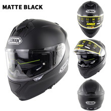 Full Face Helmet Detachable Casco Black Motosiklet Kask Breathable Man Motor Capacete Bell Helm Cascos De Motos ECE