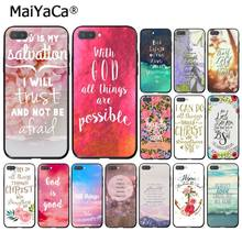MaiYaCa Bible verse Philippians Jesus Christ Christian Phone Case for Huawei Honor 8X 9 10 20 Lite Honor 7A 7C Honor10i View20(China)