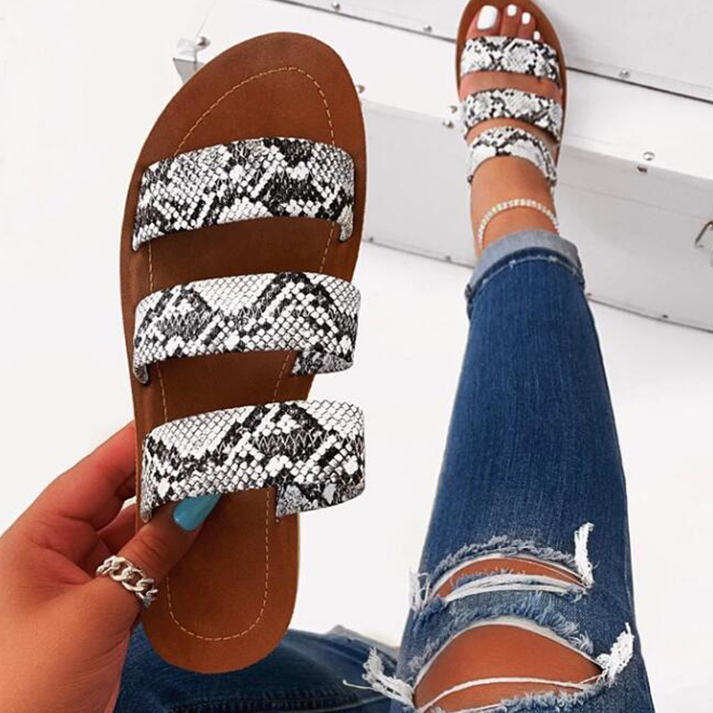 NEW 2020 Summer Women's Shoes Shoes Female Ladies Shoes Serpentine Type Cool Large Size Flat Sandals