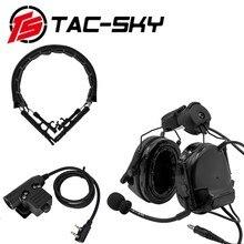 TAC SKY Cuffie COMTAC III Casco Del Basamento Cuffie In Silicone Militare e Tattico Cuffie di Ricambio Fascia e U94 PTTBK