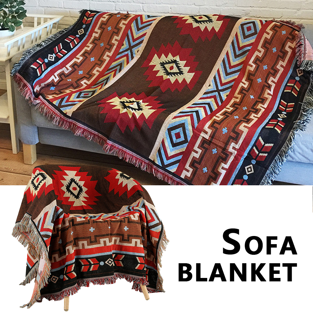 Sofa Blanket National Style Geometry Throw Blanket Slipcover For  Bed Travel Supplies Blanket Rug Sofa Cover Tapestry