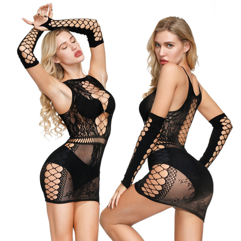 Plus Size XXXL Sexy Lingerie Women Fishnet Erotic Dress Transparent Lingerie Sexy Hot Erotic Costumes Baby Doll Sexy Underwear