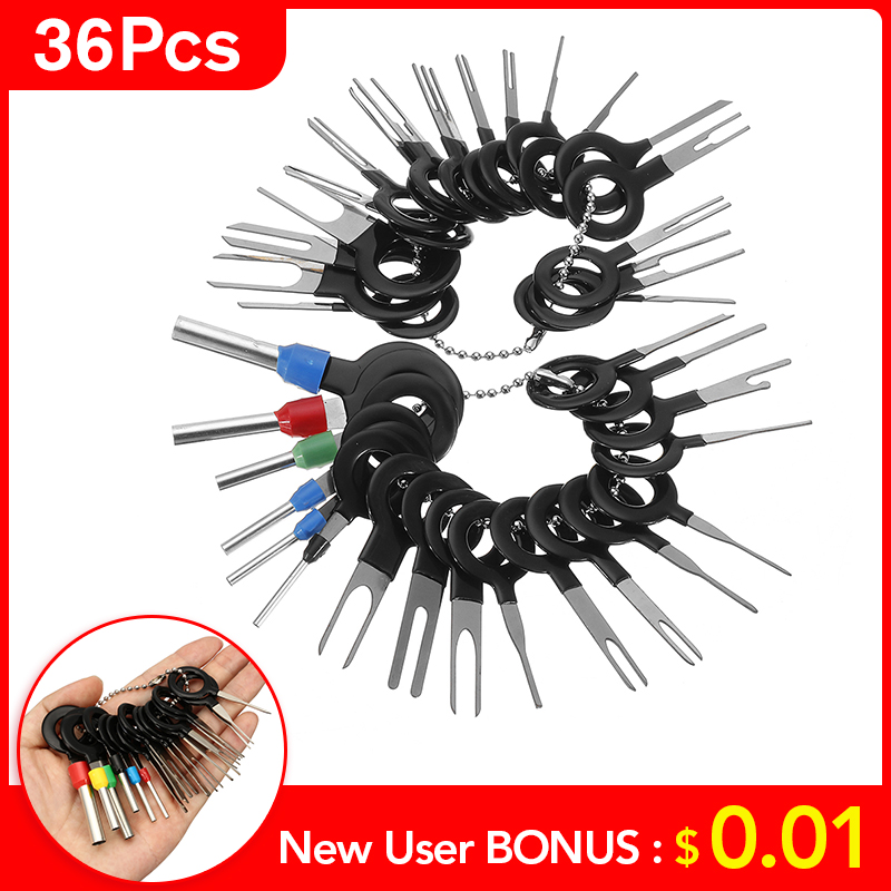 36Pcs 2019 New Car Terminal Removal Electrical Wiring Crimp Connector Pin Extractor Kit Automobiles Terminal Repair Hand Tools
