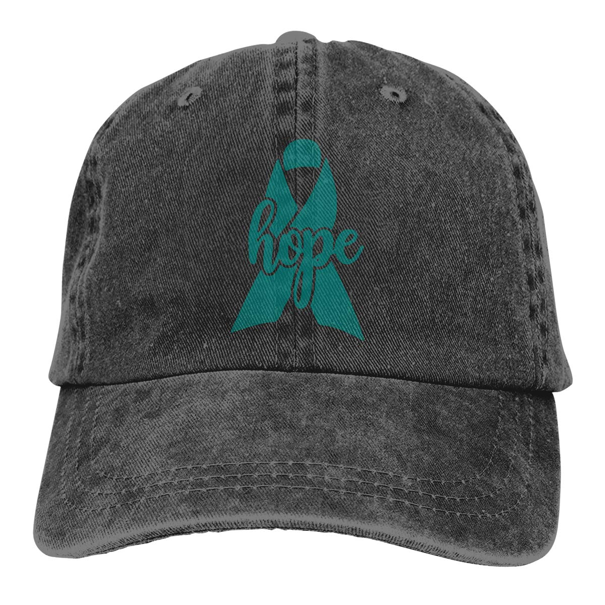 Hope Ovarian Cancer Awareness Ribbon Men Women Adjustable Baseball Caps Denim Fabric Hip Hop Cap Men S Baseball Caps Aliexpress