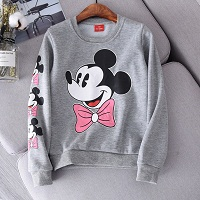Children Costume Long Sleeve Spring Velvet Mickey Cotton T-shirt