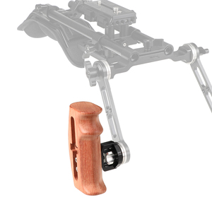 Image 1 - Kayulin ayarlanabilir ahşap Handgrip ile rozet dağı M6 Thumbscrew bağlantısı dslr kamera kafesi kiti (her iki tarafta)