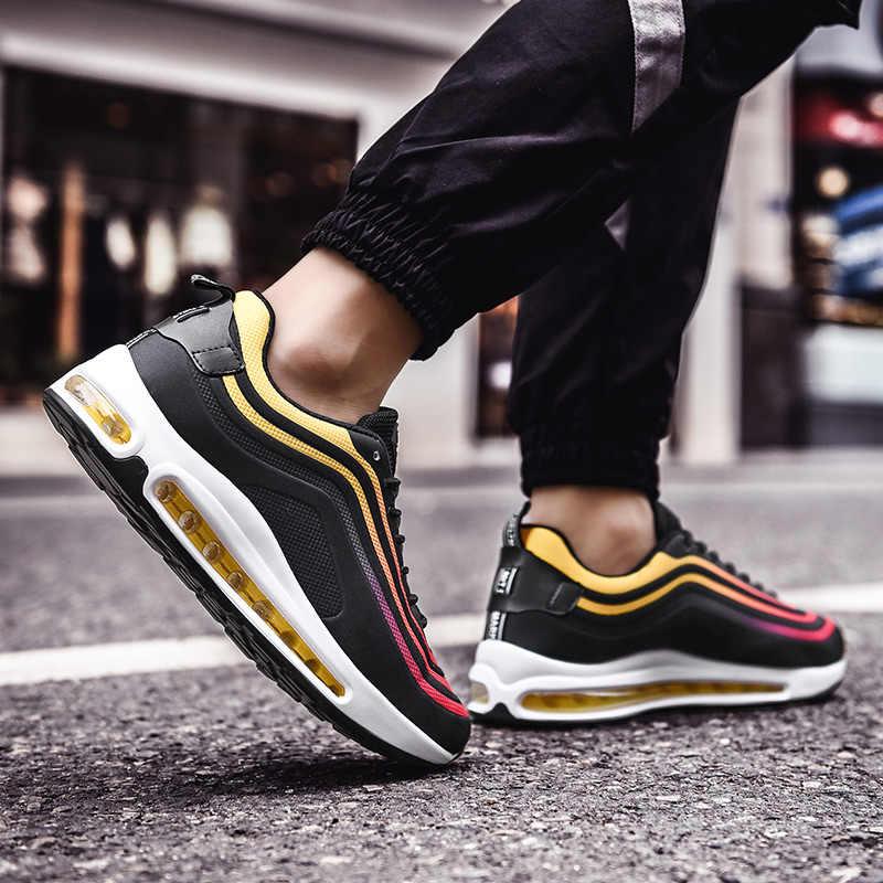 2019 yeni erkek 97 OG QS Joggers koşu ayakkabıları PU deri 95 Sneakers masaj tıknaz TN artı eğitmenler
