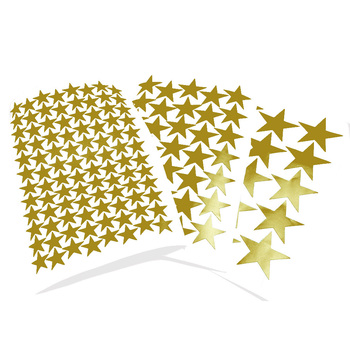 3/5/7cm Die Cut Gold Stars Wall Stickers Kids Room Home DIY Vinyl Matte Star Decal Wall Art Decals Baby Nursery Stationery