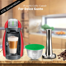 iCafilas For Nescafe Dolce Gusto Crema Coffee Filters Cup Refillable Reusable Coffee Capsule Pod With Milk Frother