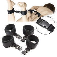 Adult Games BDSM Bondage Anklet Restraints Sex Handcuffs with Buckle Foot Hand Cuff Slave Games Adult Sex Toys for Couples Woman