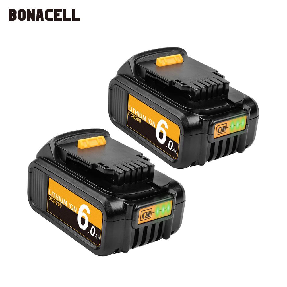 Bonacell для DeWalt 18 V 4000 mAh Батарея Мощность инструменты замены батареи DCB181 DCB182 DCD780 DCD785 DCD795 L10