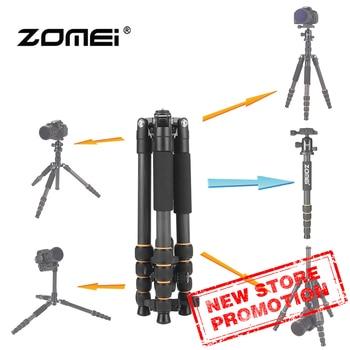 Zomei Q666C Professional travel portable carbon fiber tripod Monopod&Ball head for DSLR digital camera stand цена 2017