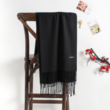 Solid Color Imitate Cashmere Scarf Woman Keep Warm Will Shawl Joker Annual Meeting