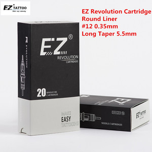 Image 2 - EZ Revolution Tattoo Needles Cartridge Round Liners # 12 0.35mm Long Taper 5.5mm for cartridge machine and grips 20 pcs /box