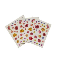цена на Stickers For Nails Flying Flower Nail Art Water Decals Transfer Sticker Manicure Nail Decoration B03