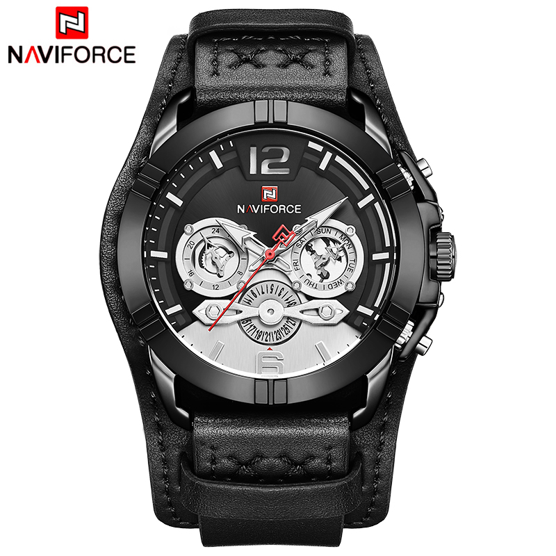 NAVIFORCE Men Watch Top Brand Luxury Fashion Military Quartz Mens Watches Waterproof Sports Male Wristwatch Relogio Masculino