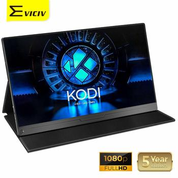 EVICIV 15.6 Raspberry Pi LCD Display Portable Monitor 1080P KODI Media Player Arduino Laptop PC Computer Multiple Screen Speaker