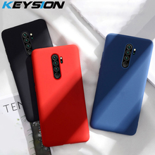 KEYSION Liquid Silicon Case For Xiaomi Redmi Note 8 Pro Shockproof Bumper Soft Phone back Cover