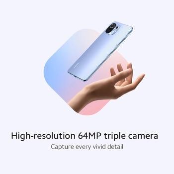 "buy Xiaomi Mi 11 Lite Smart Phone Snapdragon 732G Octa Core 6GB 128GB NFC 64MP Tripe Rear Camera 6.55"" FHD Screen"