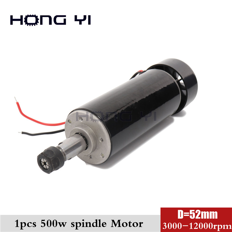 New 500W ER11 collet 52mm diameter DC 0 100 CNC Carving Milling Air cold Spindle Motor